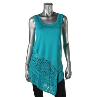 Grace Elements Womens Knit Open Stitch Pullover Top