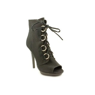 Chinese Laundry Incognito Women Peep-Toe Canvas Ankle Boot
