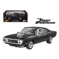 1970 Dodge Charger Black The Fast & Furious Movie (2001) 1/18 Diecast Model Car by Hotwheels