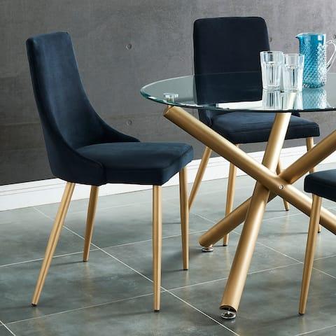 Carmilla Side Velvet Upholstered Chair (Set of 2)