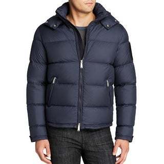 Kent and Curwen Down Puffer Hooded Jacket Large L Navy Blue