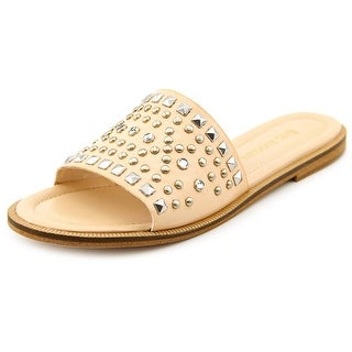 Enzo Angiolini Jaydra Women Open Toe Synthetic Nude Slides Sandal