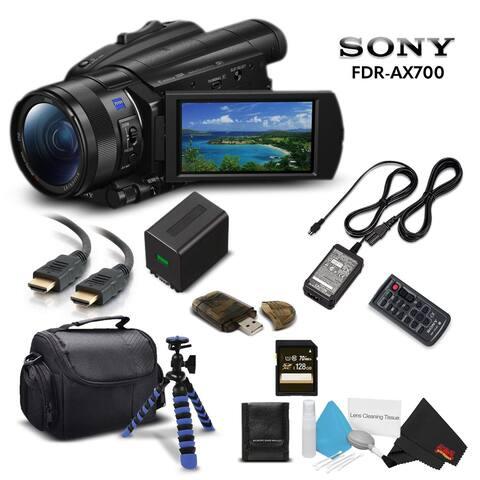 Sony Handycam FDR-AX700 4K HD Video Camera Camcorder Intl Model With 128GB Memory Card