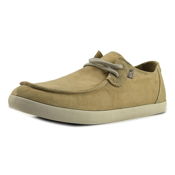 Sanuk Nu-Nami Men Moc Toe Canvas Tan Loafer