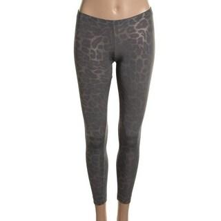 Hotsauce Style Womens Leggings Metallic Leopard Print