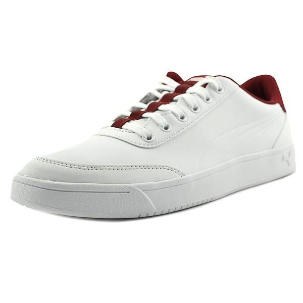 Puma Court Breaker L Men Round Toe Leather White Sneakers