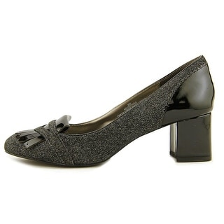 Bandolino Odonna Women  Round Toe Canvas Gray Heels