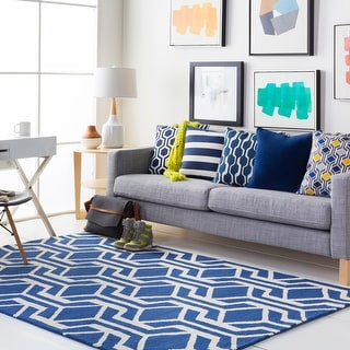 Pass Hand-Tufted Retro Geometric Wool Rug (7'6 x 9'6)
