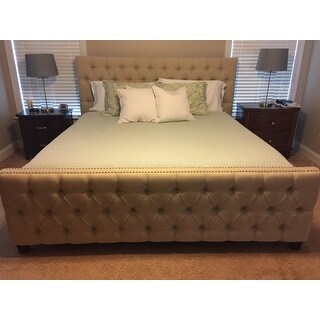 Shop Knightsbridge Tufted Nailhead Chesterfield Bed With