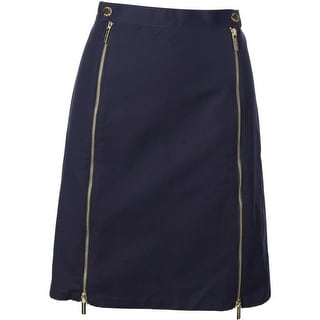 MICHAEL Michael Kors Womens Woven Knee-Length Pencil Skirt - 10