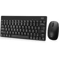 Adesso Wkb-1100Cb Wireless Spill Resistant 2.4 Ghz Mini Keyboard & Mouse Combo