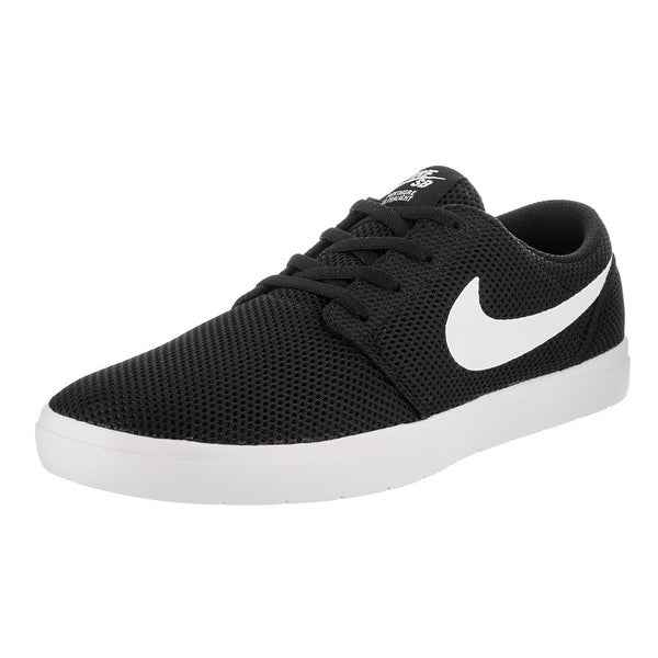 Shop Nike Men s Sb Portmore II Ultralight Black White Skate Shoe - Free  Shipping Today - Overstock.com - 18280240 7281df846