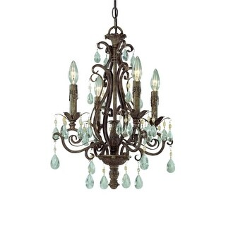 Craftmade 25624 Englewood Single Tier 4 Light Mini Chandelier - 17 Inches Wide