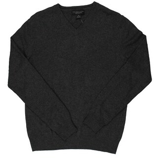 The Men's Store Mens V-Neck Sweater Pullover Cashmere