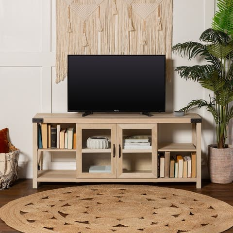 "The Gray Barn Kujawa 60"" Metal X TV Stand Console"