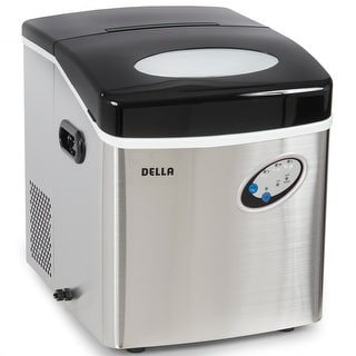 Della Stainless Steel Ice Maker Portable Countertop Freestanding Icemaker 48lb Per Day