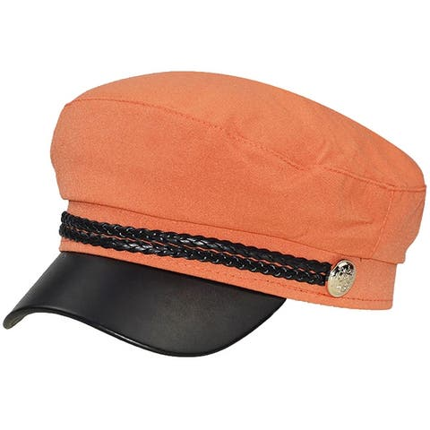 ChezAbbey Cotton Leather Visor Beret Newsboy Cabbie Cap Hat