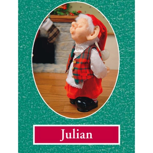 """11"""" Zims The Elves Themselves Julian Collectible Christmas Elf Figure - multi"""