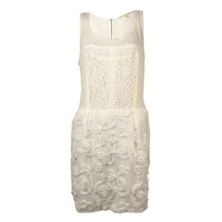 RACHEL Rachel Roy Women's Illusion Lace Rosette Sheath Dress - 10