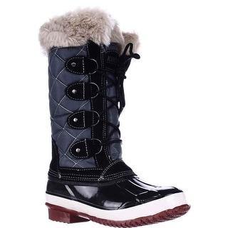Khombu Melanie Waterproof Winter Boots - Black/Grey