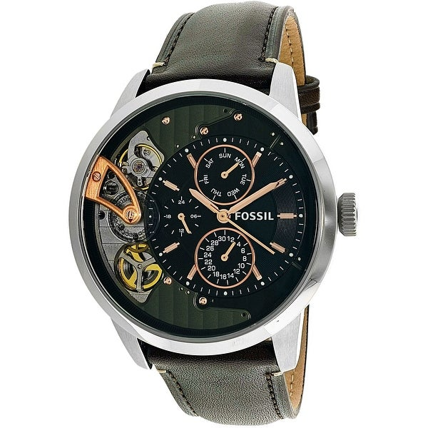 6c6704515 Shop Fossil Men's Townsman Brown Leather Quartz Fashion Watch - Free  Shipping Today - Overstock - 18816620