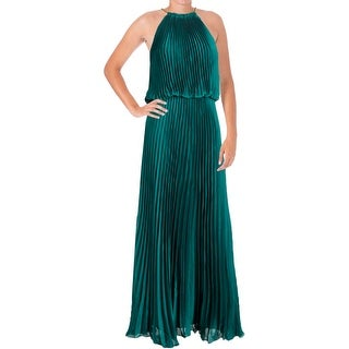Aqua Womens Juniors Evening Dress Satin Halter