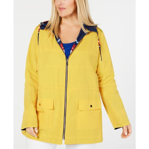 Charter Club Women's Plus Reversible Jacket Yellow Size Extra Large