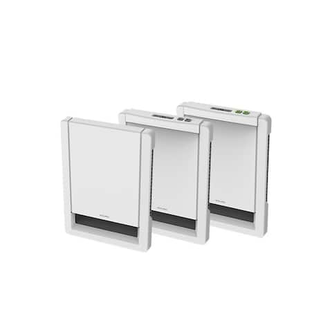 """12.25"""" Metal White Wall Heater Insert Style with Built-In Electrical Thermostat Maestro"""