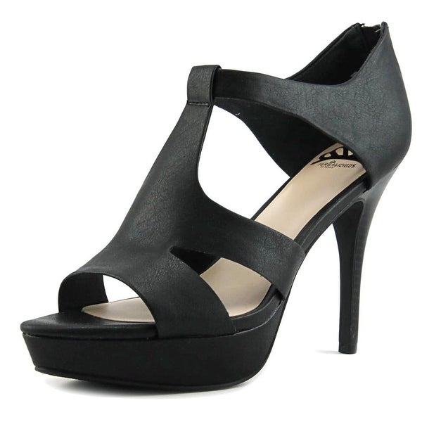 Fergalicious Emilee Women Open Toe Synthetic Black Platform Sandal