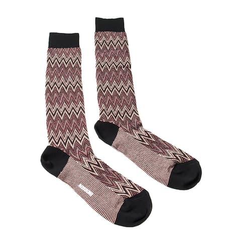Missoni GM00CMU5242 0001 Burgundy/Cream Knee Length Socks