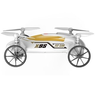 Costway Syma X9S 2.4G 4CH 6-Axis RC Flying Car Remote Control Quadcopter 3D Land Sky White