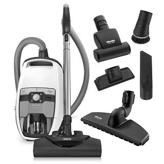 Miele Blizzard CX1 Cat & Dog Bagless Canister Vacuum Cleaner + SEB 228 Powerhead + SBB 300-3 Parquet Floor Brush + More