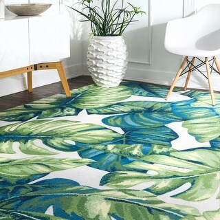 nuLOOM Multi Indoor/ Outdoor Contemporary Tropical Tree Leaf Bloom Area Rug