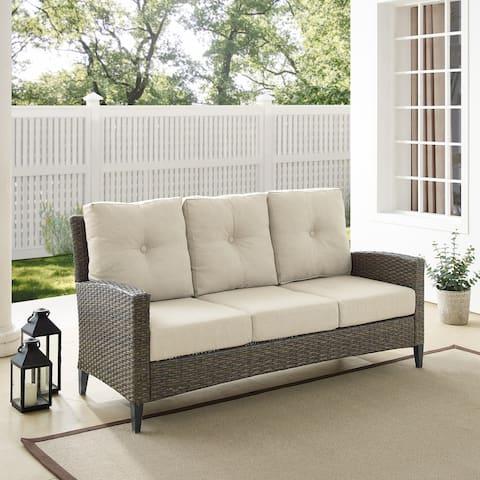 Rockport Outdoor Wicker High Back Sofa