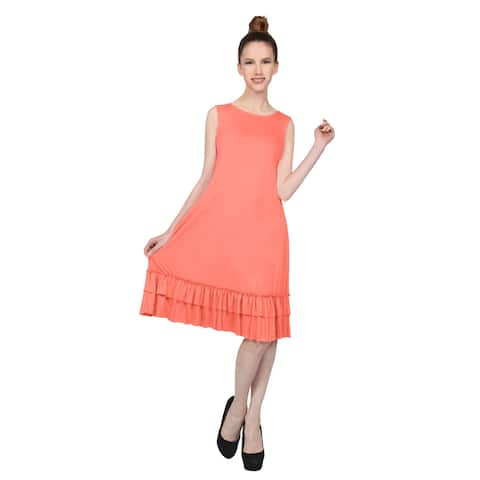d9452590381b NE PEOPLE Women s Sleeveless Ruffle Hem Detailed Midi Dress S-3XL