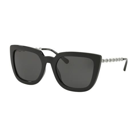 Coach HC8258U 500287 56 Black Woman Square Sunglasses