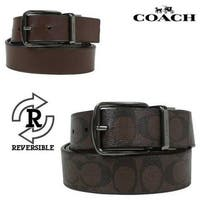 Coach Men's Wide Harness Cut To Size Reversible Signature Coated Canvas Belt, F64839 - cut to size