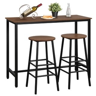 Link to Costway 3 Piece Bar Table Set Pub Table and 2 Stools Counter Kitchen Similar Items in Outdoor Dining Sets
