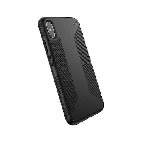 Speck Presidio Grip Designed for Impact Case for iPhone Xs Max - Black/Black