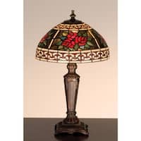 Meyda Tiffany 37790 Stained Glass / Tiffany Accent Table Lamp from the Roses & Scrolls Collection - tiffany glass - n/a