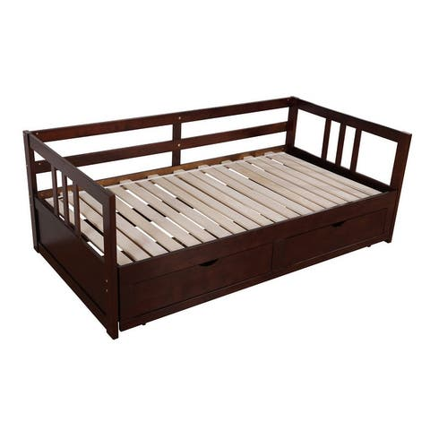 Furniture of America Abrielle Twin/King Expandable Sleeper Daybed with Storage
