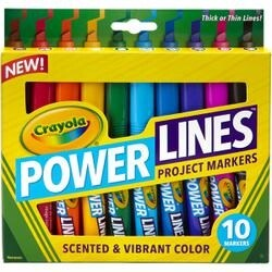 10/Pkg - Crayola Power Lines Project Markers