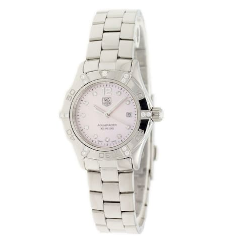 Tag Heuer Women's WAF141H.BA0824 'Aquaracer' Stainless Steel Watch - Pink