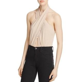 Bardot Womens Bodysuit Criss-Cross Front Cut-Out