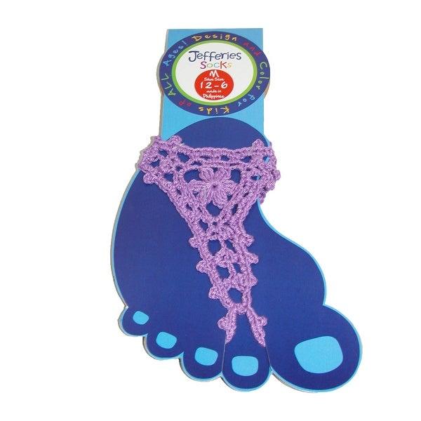 Jefferies Socks Girls' Summer Crochet Barefoot Sandal
