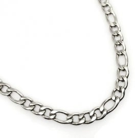 Loralyn Designs Stainless Steel Figaro Necklace Chain Italian Link - 5mm