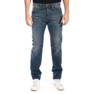 Diesel Men's Braddom Regular Slim Carrot-Leg Denim Jean 0R11U