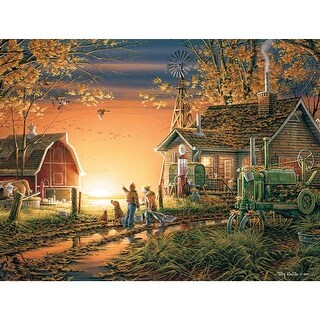 "Jigsaw Puzzle Terry Redlin 1000 Pieces 24""X30""-Morning Surprise"
