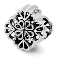 Sterling Silver Reflections Four Leaf Clover Bali Bead (4mm Diameter Hole)