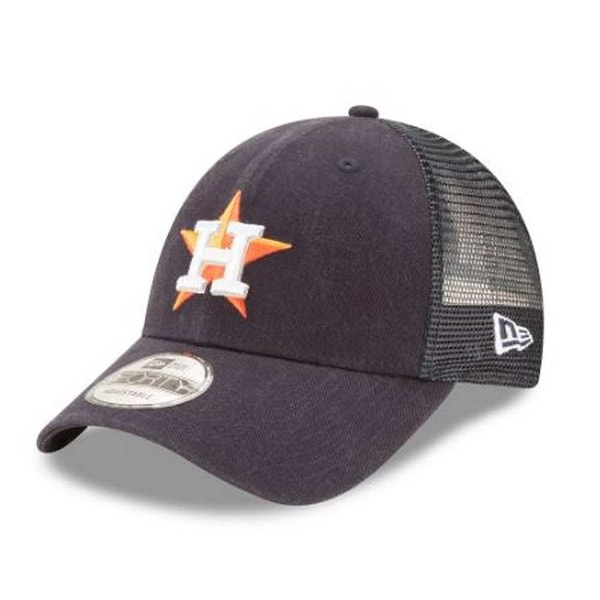Shop New Era MLB Houston Astros Trucker 9Forty Adjustable Baseball Hat 940  11591205 - Free Shipping On Orders Over  45 - Overstock.com - 21425211 07ce0be0a07
